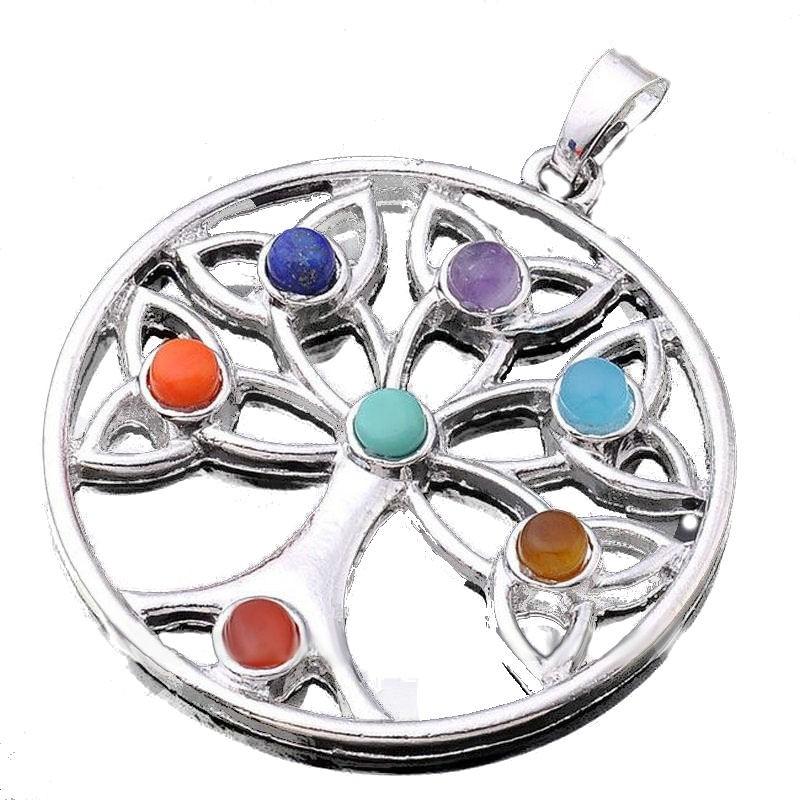 7 Chakra Tree Of Life Symbol Pendant