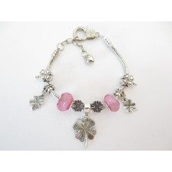 Pandora bracelet clover4 pink