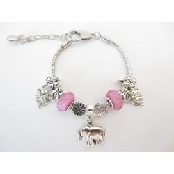 pandora bracelet elephant pink