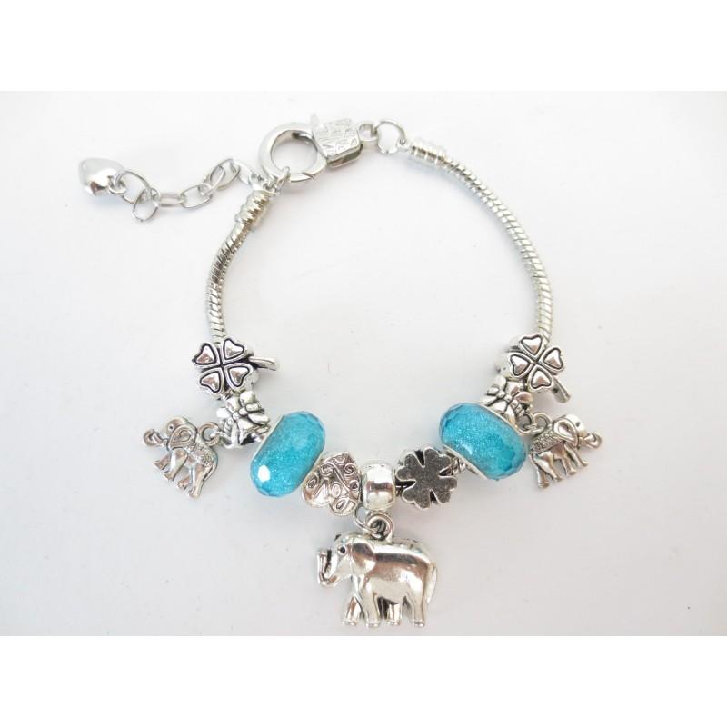 d03da0fcc35d8 pandora bracelet elephant aqua blue
